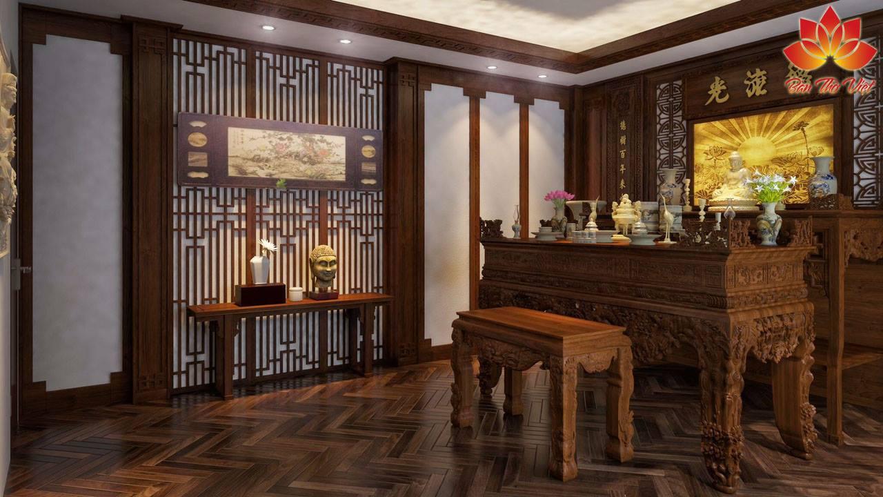 Cách bố trí phòng thờ nhà phố hiện đại đẹp và chuẩn phong thủy