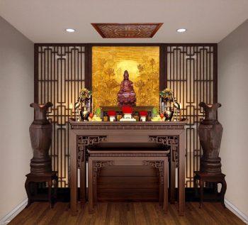Không gian thờ thờ thiết kế đơn giản