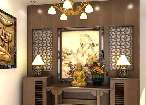 Tư vấn Thiết kế phòng thờ Phật đẹp và chuẩn phong thủy