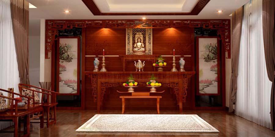 Cách bố trí nội thất phòng thờ Quan Âm đúng chuẩn nhất ở trong nhà 1