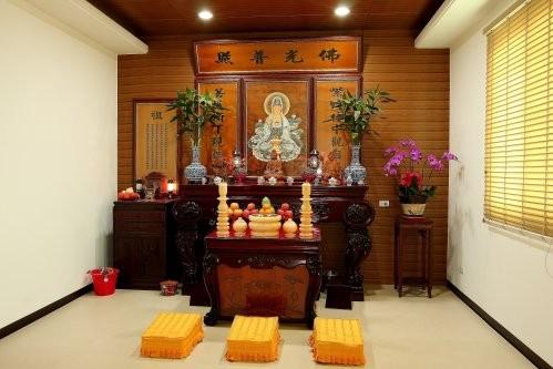 Cách bố trí nội thất phòng thờ Quan Âm đúng chuẩn nhất ở trong nhà 3