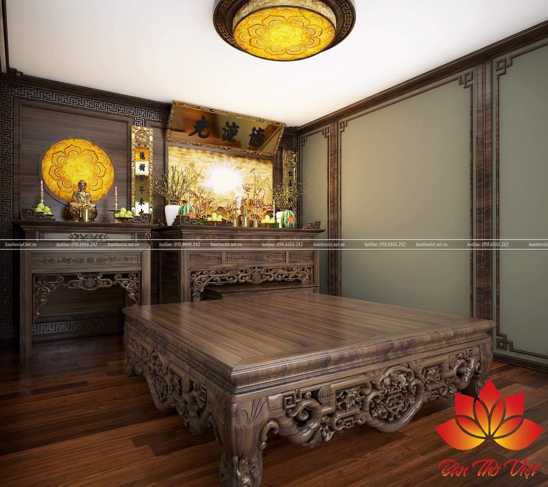 Phòng thờ Việt và mẫu thiết kế phòng thờ ở Mỹ Đình đẹp nhất