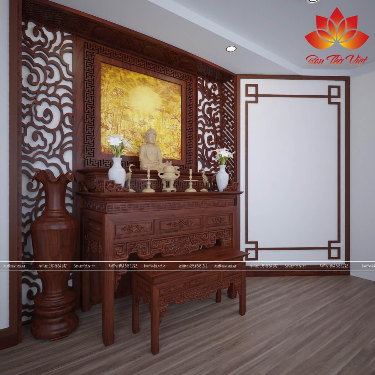 Hình vẽ trong tranh phong thủy phòng thờ là hình vẽ sang trọng, phù hợp với nhiều không gian