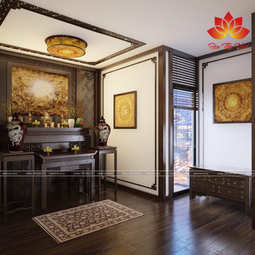 Mẫu thiết kế nội thất phòng thờ đẹp cho nhà biệt thự và chung cư