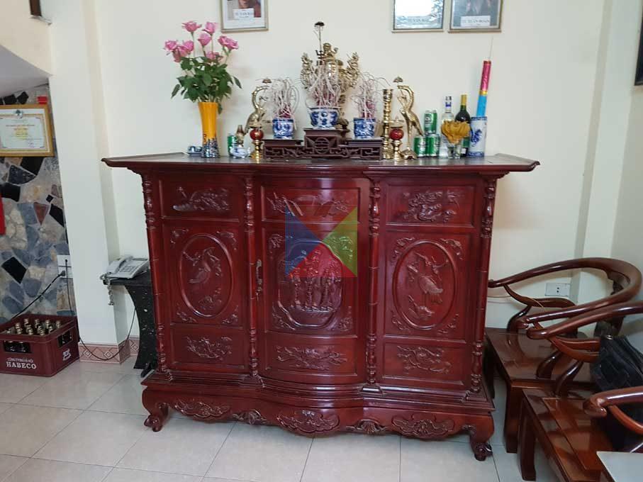 Tủ thờ đơn giản chất liệu gỗ cao cấp