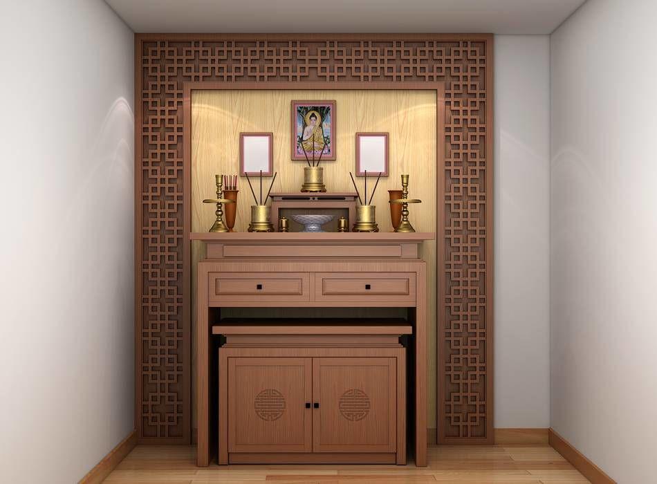 Tủ thờ đơn giản thiết kế tiết kiệm không gian