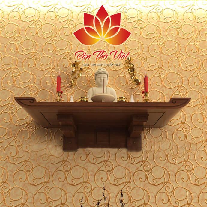 Chất liệu cao cấp của bàn thờ phòng khách giúp bảo vệ sản phẩm khỏi mối mọt, bụi bẩn